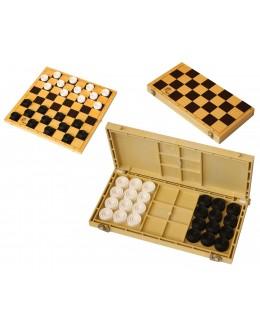Шашки с шахматной доской пластик (30х30 см, высота 28 мм)
