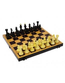 Шахматы и шашки с пластиковой доской 30х30см