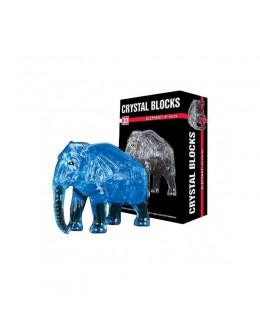 3D пазл crystal blocks слон