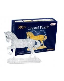 3D пазл crystal blocks лошадь