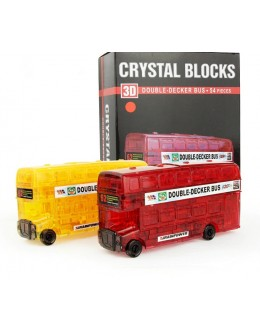 3D пазл crystal blocks автобус