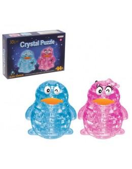 3D пазл crystal blocks пингвин