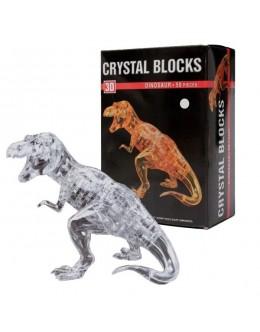 3D пазл crystal blocks динозавр