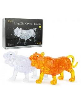 3D пазл crystal blocks тигр