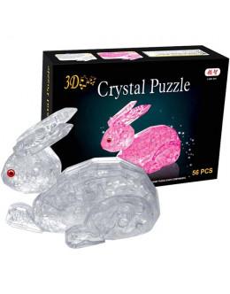 3D пазл crystal blocks заяц