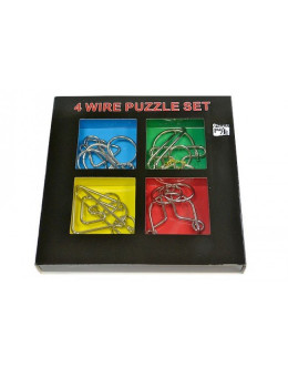 Набор головоломок 4 wire puzzle set