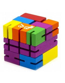 Кубик трансформер wooden rubik's cube robot