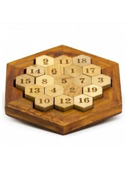 Головоломка деревянные Соты 38