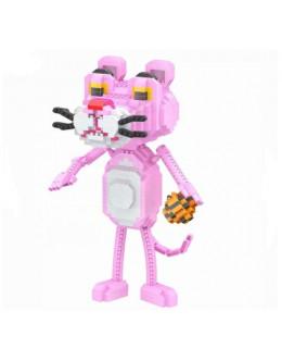 Конструктор Micro brick pink tiger