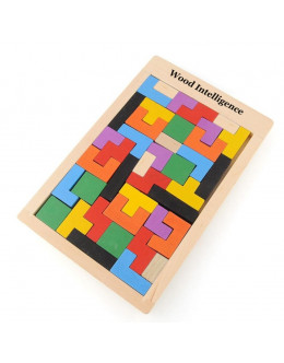 Деревянная головоломка планшет тетрис