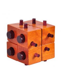 Деревянная головоломка 8 square lock