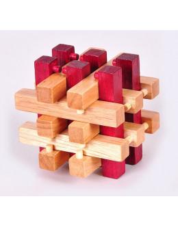 Деревянная головоломка Two-color blockade