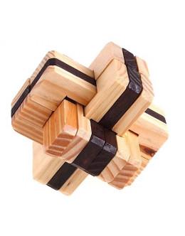 Деревянная головоломка six-way lock