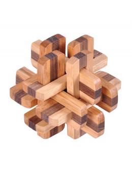 Деревянная головоломка Two-color 12 lock