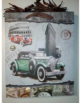 Пакет подарочный средний retro