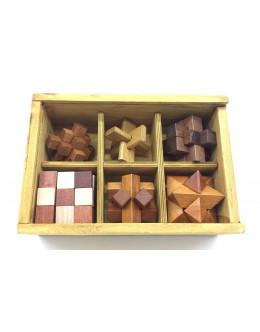 Набор деревянных головоломок wooden box 6