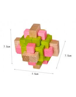 Деревянная головоломка beech color 24 lock