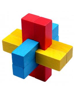 Деревянная головоломка Six colors