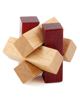 Деревянная головоломка Two-tone wood knot