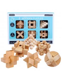 Набор головоломок Wooden box 6 set beech