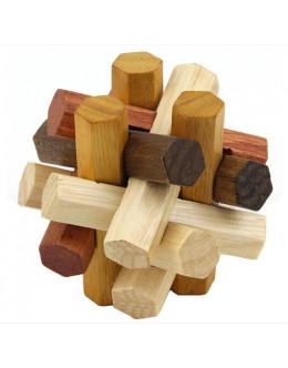 Деревянная головоломка Hexagon twelve sisters