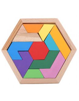 Деревянная головоломка Hexagon box