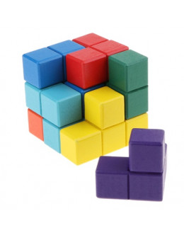 Деревянная головоломка Colored soma square