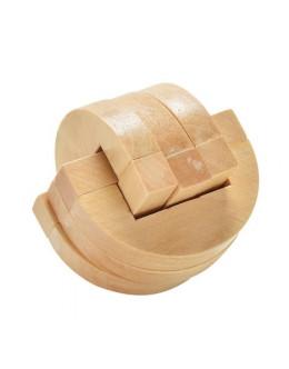 Деревянная головоломка Rubber wood ring interlocking