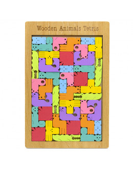 Головоломка Wooden Animal Tetris
