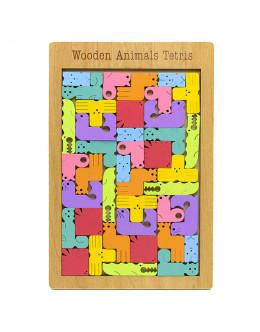 Головоломка Wooden Animal Tetris