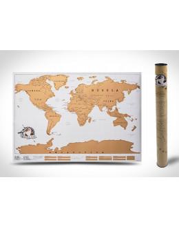 Стирающаяся скретч карта мира