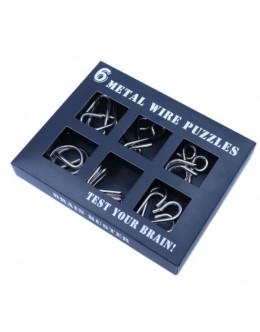 Набор головоломок 6 wire puzzle set black