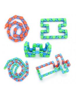 Антистресс Wacky Tracks Snap and Click Fidget Toys Snake