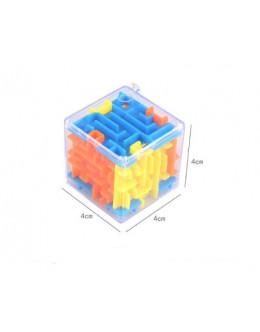 Брелок куб-лабиринт с шариком maze ball