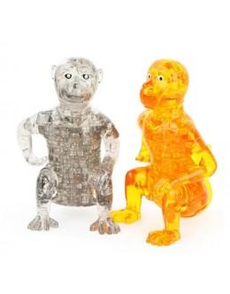 3D пазл crystal blocks обезьяна